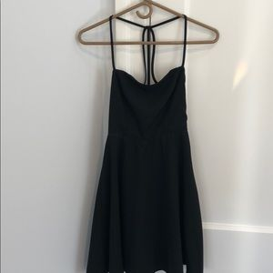 little black dress with strapless back